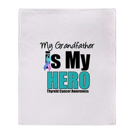 Thyroid Cancer Hero Throw Blanket
