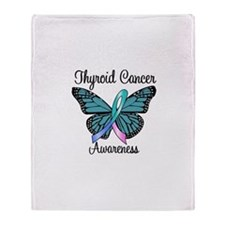 Thyroid Cancer Awareness Throw Blanket