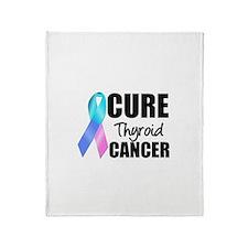 Cure Thyroid Cancer Throw Blanket