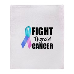 Fight Thyroid Cancer Throw Blanket