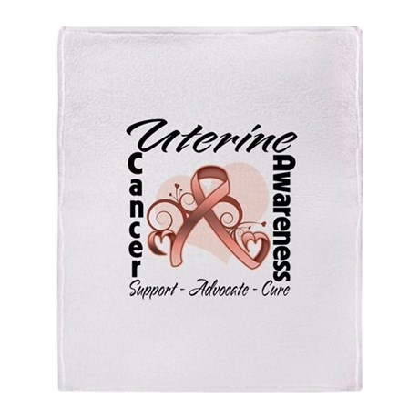 Uterine Cancer Awareness Stadium Blanket