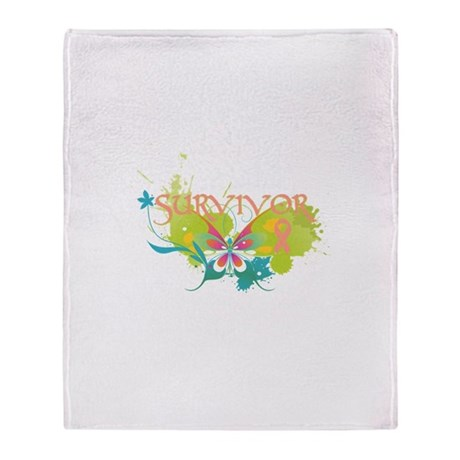 Butterfly Uterine Cancer Stadium Blanket