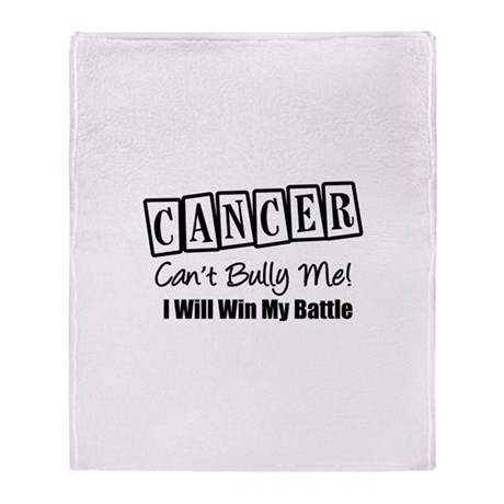 Cancer Can't Bully Me Stadium Blanket