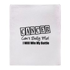 Cancer Can't Bully Me Throw Blanket