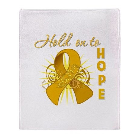 Appendix Cancer Throw Blanket