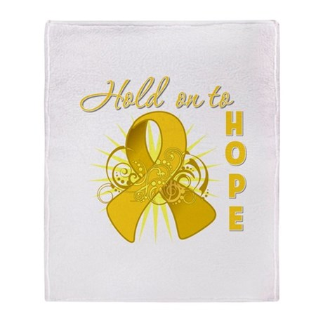 Childhood Cancer Throw Blanket