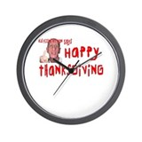 Pissed Off Thanksgiving Wall Clock