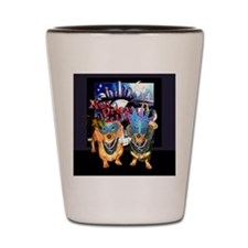 Mardi Gras Shot Glass