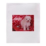 Love Puppy Throw Blanket