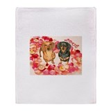 Flower Heart Throw Blanket