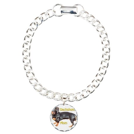 Dachshund Mom Charm Bracelet, One Charm