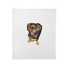 Lil Lily Dachshund Dog Throw Blanket