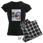 Agility Chinese Pugs Women's Dark Pajamas
