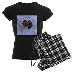 Dachshund Duo Women's Dark Pajamas