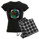 Dachshund Pair Women's Dark Pajamas