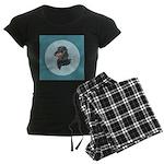 Longhaired Dachshund Women's Dark Pajamas