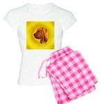 Beautiful Bloodhound Head stu Women's Light Pajama