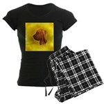Beautiful Bloodhound Head stu Women's Dark Pajamas