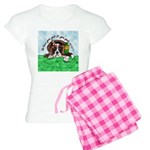 Bassett Hound Party guy!! Women's Light Pajamas