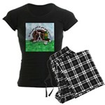 Bassett Hound Party guy!! Women's Dark Pajamas
