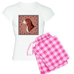 Beagle with pawprints Women's Light Pajamas