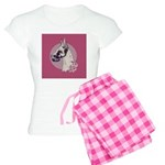 A lovely Harlequin Great Dane Women's Light Pajama