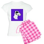 Down Ear Harlequin Great Dane Women's Light Pajama