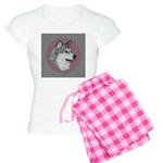 Gray Alaskan Malamute Women's Light Pajamas