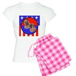 Bull Mastiff Mom & Puppy Women's Light Pajamas