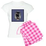 Romping Rottweiler Puppy Women's Light Pajamas