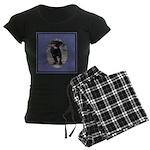 Romping Rottweiler Puppy Women's Dark Pajamas