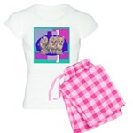 3 Yorkie Puppies Women's Light Pajamas