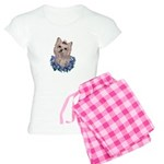 A Pensive Pretty Yorkie Women's Light Pajamas