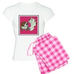 English Bulldog Pair Women's Light Pajamas