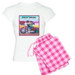 Bulldog and Frenchie Biker Women's Light Pajamas