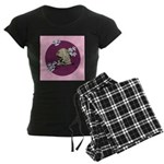Yawning Chinese Shar Pei Women's Dark Pajamas