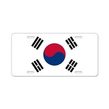 Korean Flag Aluminum License Plate