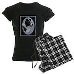 Border Collie Profile Women's Dark Pajamas