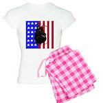 Belgian Sheepdog & Flag Women's Light Pajamas
