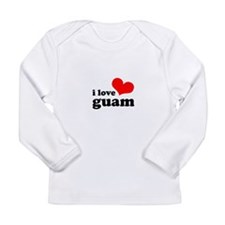 I Love Guam Long Sleeve Infant T-Shirt