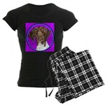German Shorthair Pointer Head Women's Dark Pajamas