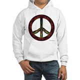 Tie Dye Peace and Love Hoodie