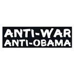 Anti-War, Anti-Obama bumper sticker
