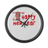 Pissed Off New Year Large Wall Clock