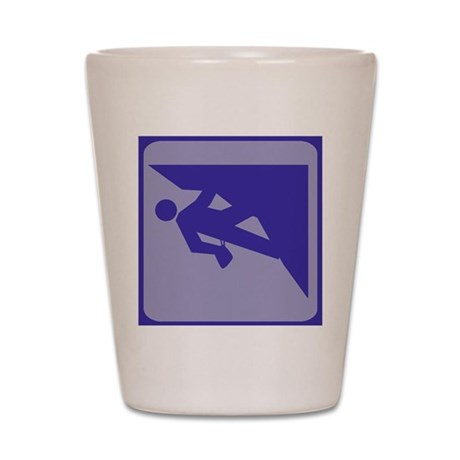 Climbing Guy Icon Shot Glass