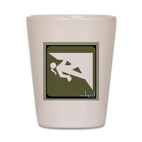 Climbing Girl Icon Shot Glass