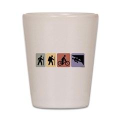 Multi Sport Guy Shot Glass