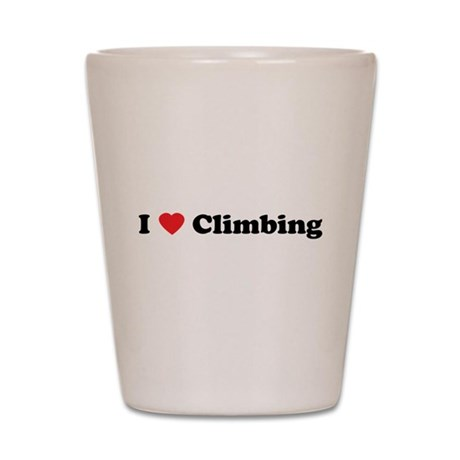 I Love Climbing Shot Glass