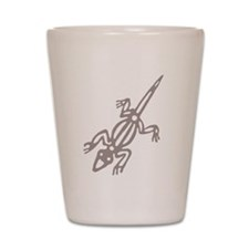 Climbing Lizard Shot Glass