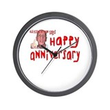 Pissed Off Anniversary Wall Clock